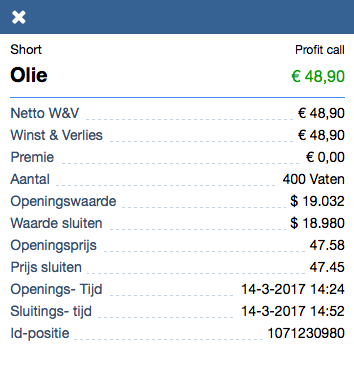 Olie-resultaat