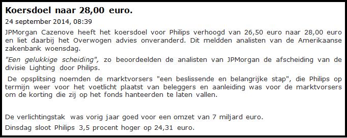 beleggen in philips