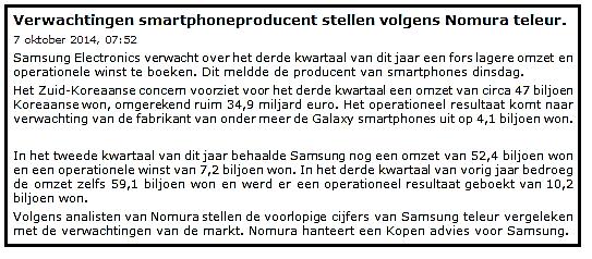 Beleggen met 100 euro in Samsung 1