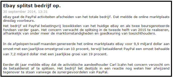 Online beleggen in ebay 2
