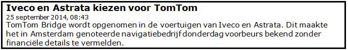 Winst met beleggen in Tom Tom1