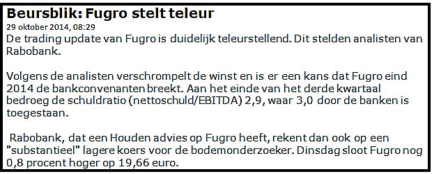 Gemakkelijk beleggen in Fugro