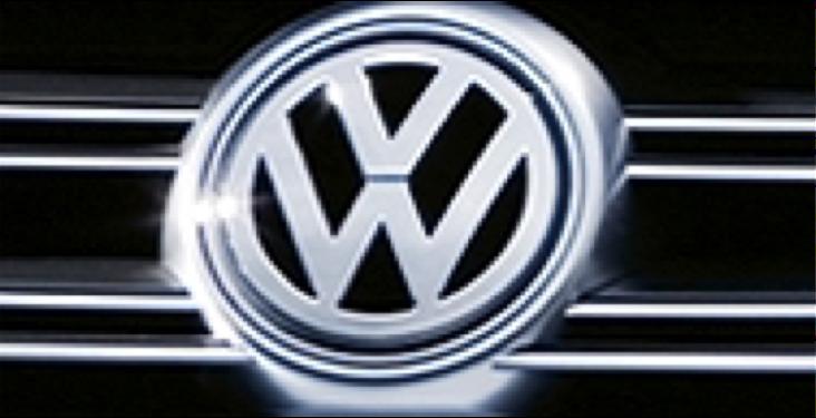 Logo volkswagen voor handelen in aandelen Volkswagen