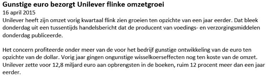 Nieuwsbericht beleggen op Unilever