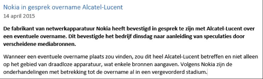 Nieuwsbericht van daytraden met Alcatel