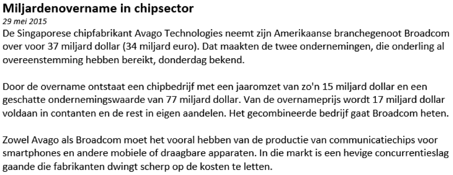 Nieuwsbericht bij aandelen kopen van Avago Technologies