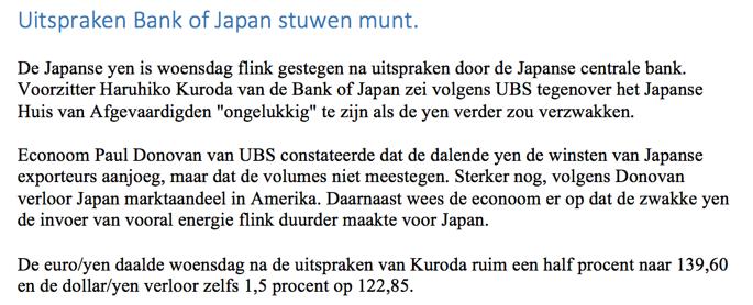 nieuwsbericht bij handelen in valuta