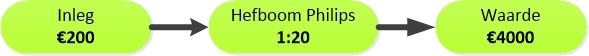 Figuur 2: Winst met daghandelen Philips – Hefboomeffect. Klik om te vergroten.
