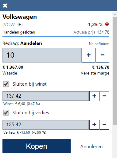 Volkswagen aandelen