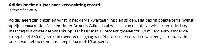 Adidas aanleiding
