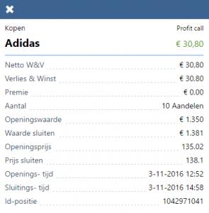 Adidas resultaat