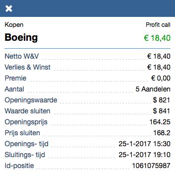 Boeing resultaat